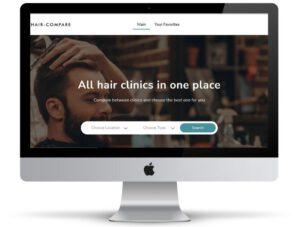 תמונת רקע של אתר של חברת Hair Compare