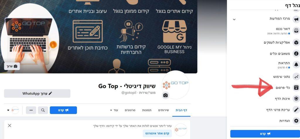 בחירת כלי פרסום במסגרת קמפיין לידים בפייסבוק